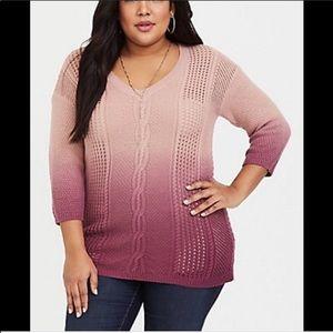 NWOT Torrid Ombré Sweater